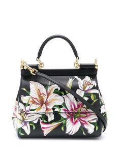 Dolce & Gabbana сумка-тоут Sicily с цветочным принтом