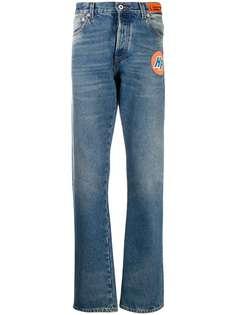 Heron Preston прямые джинсы с нашивкой-логотипом