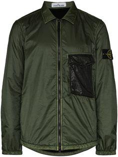 Stone Island легкая куртка-рубашка на молнии