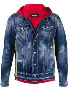 Dsquared2 джинсовая куртка с капюшоном