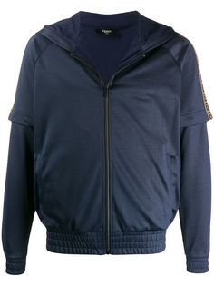 Fendi спортивная куртка с логотипом FF