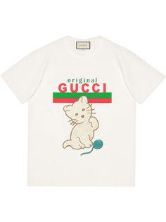Gucci футболка Kitten свободного кроя