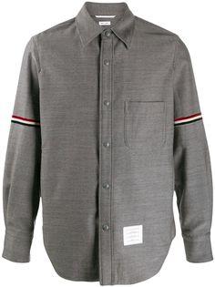 Thom Browne куртка-рубашка с полосками RWB