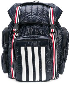 Thom Browne стеганый рюкзак с полосками 4-Bar