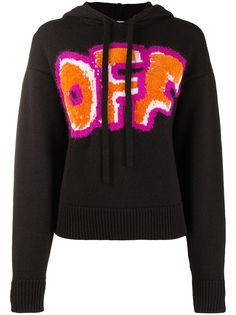 Off-White OFF GRAFFITI HOODIE BLACK ORANGE