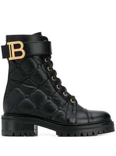Balmain стеганые ботинки Ranger