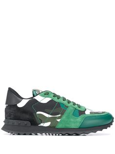 Valentino Garavani камуфляжные кроссовки Rockrunner