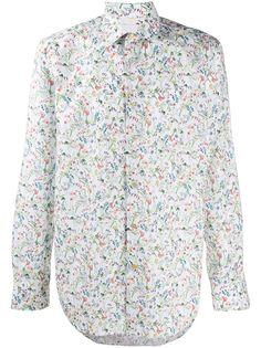 Paul Smith рубашка с длинными рукавами и цветочным принтом