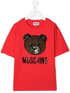 Moschino Kids футболка с логотипом Teddy