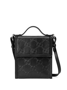 Gucci сумка-мессенджер с тисненым узором GG
