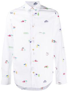 Paul Smith рубашка на пуговицах с графичным принтом