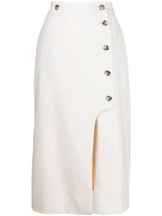Paul Smith юбка миди с завышенной талией