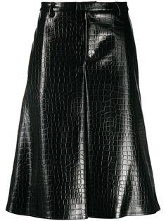 Maison Margiela шорты с тиснением под кожу крокодила