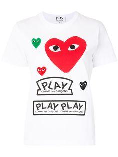 Comme Des Garçons Play футболка с короткими рукавами и логотипом