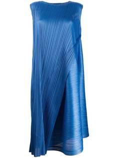 Pleats Please Issey Miyake плиссированное платье миди с запахом