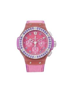 Hublot наручные часы pre-owned 2020-го года Big Bang Pink Linen 41 мм