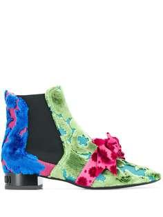 Moschino ботинки с бантами
