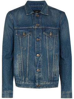 Alanui джинсовая куртка с узором фер-айл