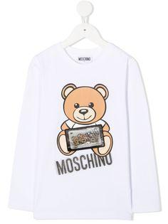 Moschino Kids футболка Teddy Bear с логотипом
