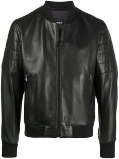 Boss Hugo Boss байкерская куртка узкого кроя