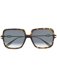 Dior Eyewear солнцезащитные очки в квадратной оправе черепаховой расцветки