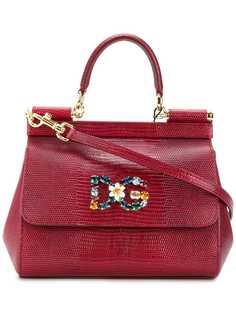 Dolce & Gabbana сумка-тоут Sicily с бляшкой с логотипом