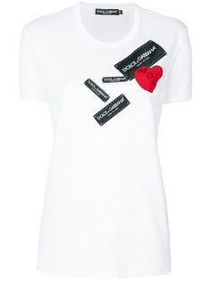 Dolce & Gabbana футболка с сердцем и логотипом