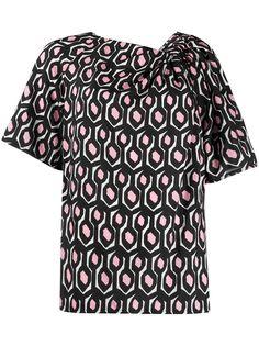 Christian Wijnants футболка с геометричным принтом и сборками