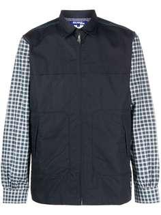 Junya Watanabe MAN куртка-рубашка с клетчатыми рукавами