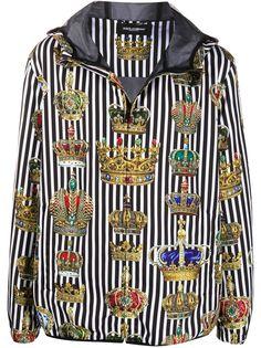 Dolce & Gabbana куртка в полоску с капюшоном