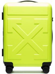 Off-White чемодан на колесах с логотипом Arrows