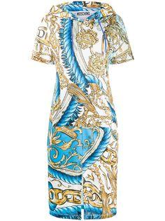 Moschino платье с принтом и капюшоном