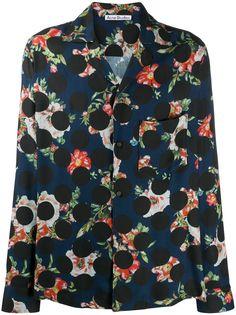 Acne Studios рубашка с цветочным принтом