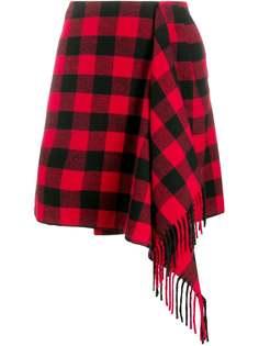 Hilfiger Collection клетчатая юбка с драпировкой