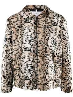 Soulland шуба с леопардовым принтом