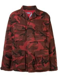 Adaptation куртка оверсайз с камуфляжным принтом