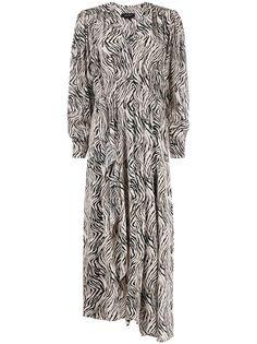 Isabel Marant платье с зебровым принтом