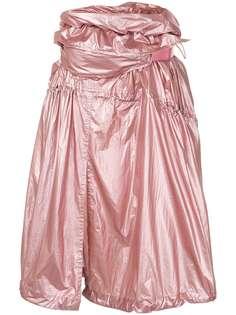 Juun.J юбка со сборками и эффектом металлик