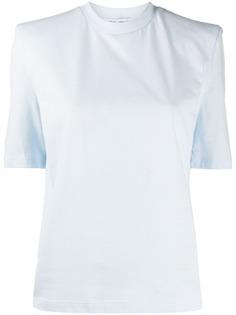 The Attico однотонная футболка с круглым вырезом