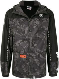 AAPE BY *A BATHING APE® куртка с капюшоном и камуфляжным принтом