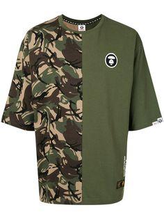 AAPE BY *A BATHING APE® футболка с камуфляжным принтом