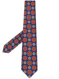 Kiton галстук с абстрактным принтом