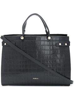 Furla сумка-тоут Lady M с тиснением под кожу крокодила