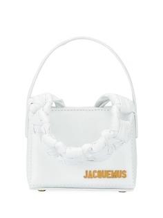 Jacquemus мини-сумка Noeud с плетеной ручкой