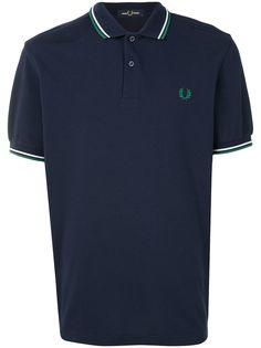 Fred Perry рубашка поло с отделкой в полоску и логотипом