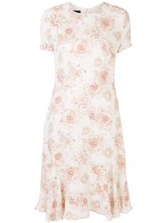 Escada платье-трапеция длины миди с цветочным принтом