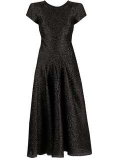 Emporio Armani расклешенное коктейльное платье с эффектом металлик