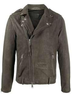 AllSaints байкерская куртка с косой молнией