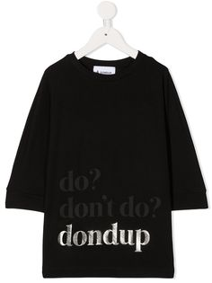 Dondup Kids футболка с графичным принтом