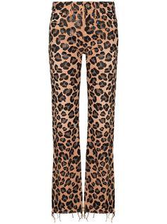 Alanui прямые джинсы с леопардовым принтом